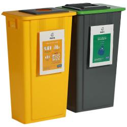 Panneau affichage poubelle tri selectif