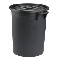 Poubelle noire Rubbermaid 75L