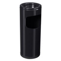 Cendrier poubelle sur pied acier noir 12,5 L Cendeo Rossignol