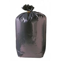 Sac poubelle gris noir lien classique Delcourt  130 L - carton de 200