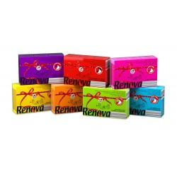 Mouchoir jetable coloré et parfumé boîte distributrice de 80 Color RedLabel Maxi Renova - lot de 16
