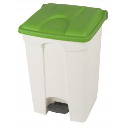 Collecteur de tri sélectif 45L HACCP PROBBAX Blanc/ Vert