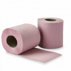 Rouleau papier toilette 2 plis ouate rose 200 feuilles - lot de 108