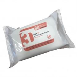Lingette antiseptique et désinfectante norme EN14476 - sachet de 80