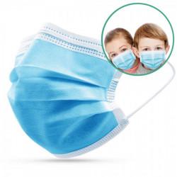 Masque chirurgical enfant 3 plis - boîte de 50