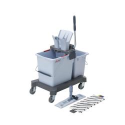 Chariot de lavage avec presse gris UltraSpeed Pro Starterkit Double Vileda